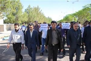 برگزاری همایش پیاده روی سالروز آزادی خرمشهر در واحد رفسنجان