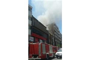هتل آپادانا تهران آتش گرفت / عکس