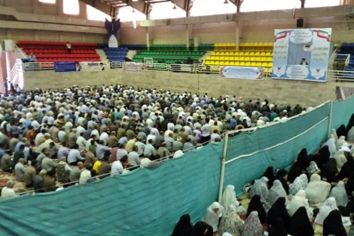 اقامه نماز جمعه در دانشگاه آزاد اسلامی نیشابور نمادی از پیوستگی دین و دانش در باورهای همه ماست