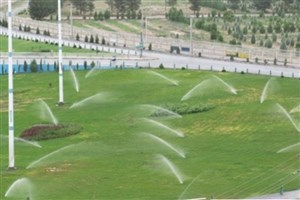 حذف روش سنتی آبیاری فضای سبز در بخش مرکزی شهر تهران