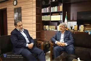 دیدار دبیرکل کمیسیون ملی یونسکو در ایران با سرپرست دانشگاه آزاد اسلامی