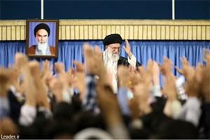دیدار جمعی از دانشجویان با رهبر معظم انقلاب اسلامی
