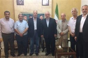 دیدار هیاتی از جبهه دموکراتیک آزادیبخش فلسطین با سفیر ایران در لبنان