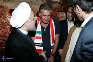 دیدار ملیپوشان فوتبال با رئیس جمهوری+عکس