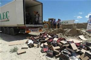 امحای ۹ کامیون خرمای تولید شده رژیم صهیونیستی در مرز بازرگان