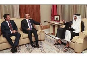 وزیر امور خارجه و وزیر اقتصاد ترکیه با مقامات قطری دیدار و مذاکره کردند