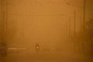 گرد و غبار در راه خوزستان