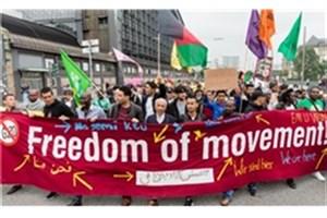 تظاهرات صدها تن در هامبورگ در اعتراض به اخراج پناهجویان