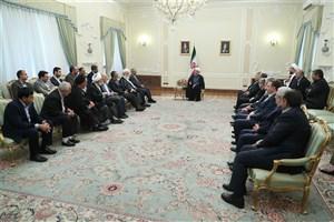 دیدار عیدانه جمعی از مسوولان و مدیران دستگاه های اجرایی با رییس جمهور