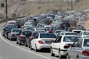 ترافیک سنگین در محور هراز و کرج - چالوس