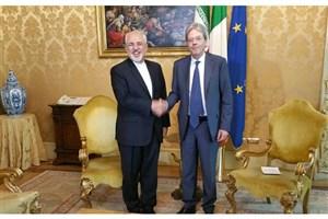 دیدار ظریف با نخست وزیر ایتالیا