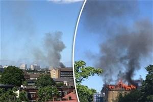 آتشسوزی گسترده در شرق لندن