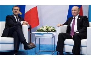 شوخی پوتین با ماکرون به خاطر تاخیرش