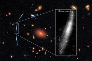 آتشبازی کهکشانهای دوردست از لنز هابل