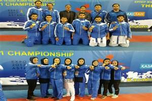 10 مدال رنگارنگ دستاورد تیم امید دختران و پسران کاراته ایران