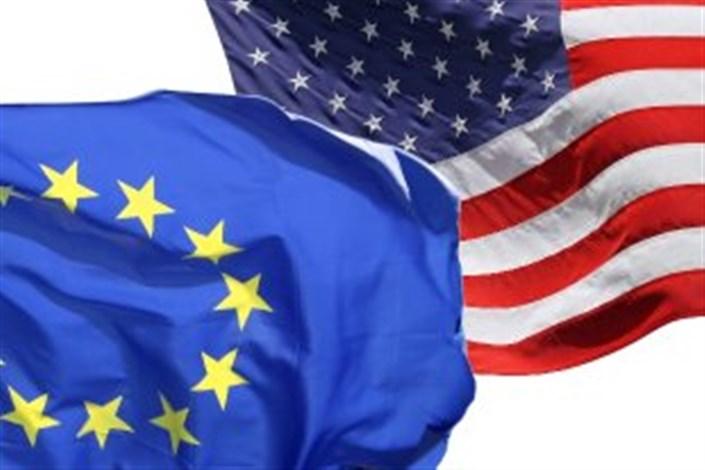 پرچم آمریکا اروپا