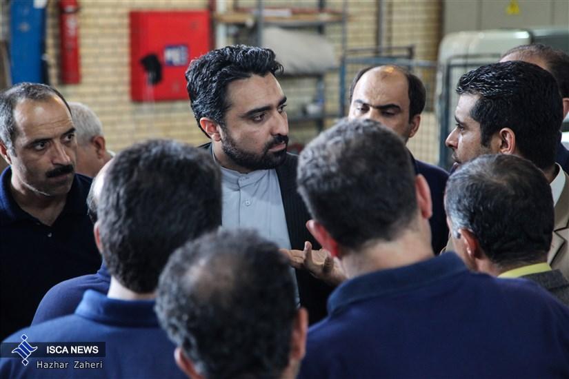 بازدید دکتر اسکندری از چاپخانه دانشگاه آزاد اسلامی
