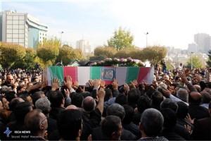 تشییع پیکر هشت شهید گمنام در قشم