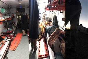 واژگونی  خودروی دبیر بین الملل ایسکانیوز /۵ مصدوم به بیمارستان منتقل شدند