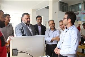 راهاندازی نمایشگاه تجهیزات و امکانات کارگاهی برق و مخابرات توسط دانشجویان واحد کازرون