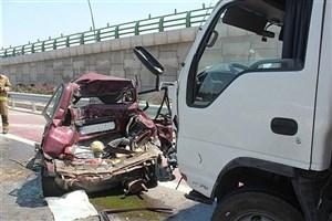 خستگی و خواب آلودگی راننده کامیون ۴ کشته برجای گذاشت