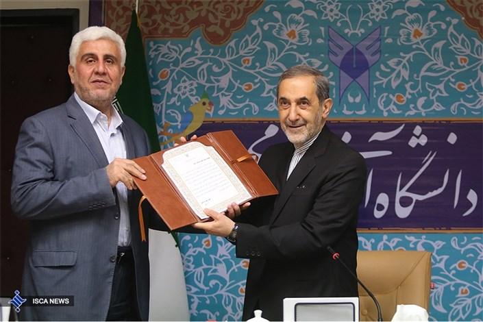 مراسم اهدای حکم ریاست دانشگاه آزاداسلامی به دکتر فرهاد رهبر
