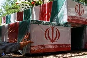 تشییع پیکر مطهر پنج شهید گمنام دفاع مقدس در نیشابور