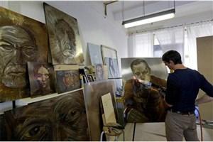 هنرمندی که با آتش نقاشی می کشد!