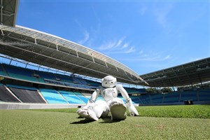 Soccer Robots Compete to Beat Humans in 2050