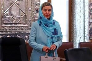 موگرینی برای مراسم تحلیف وارد تهران شد