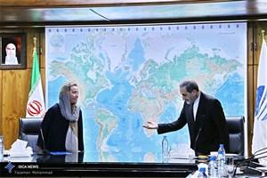 دیدار دکتر ولایتی با فدریکا موگرینی نماینده عالی اتحادیه اروپا در سیاست خارجی و امور امنیتی