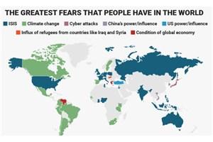 بزرگترین نگرانیهای مردم جهان چیست؟+نقشه