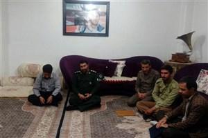 دیدار فرمانده سپاه بویراحمد با خانواده شهید رسانه