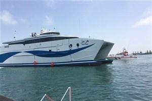 سریع ترین کشتی حمل خودرو و مسافر جهان در بندر جاسک