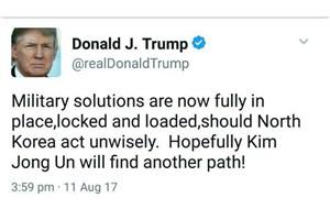 ترامپ: راهکار نظامی علیه کره شمالی آماده است