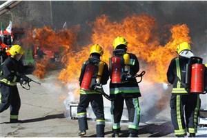 آتشسوزی در ساختمان اداری خیابان جمهوری