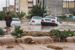 آخرین اخبار از وقوع سیل در شهرستان باغملک/بسته شدن مسیر روستاها /نداشتن تلفات جانی