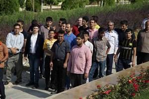 باغ موزه دفاع مقدس میزبان اردوی طعم جبهه دانش آموزان استثنایی شد
