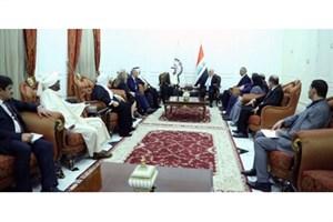 «حیدر العبادی» و رئیس پارلمان کشورهای عربی با یکدیگر به گفتگو پرداختند