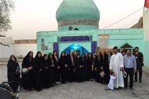 دانشگاهیان به زیارت اهل قبور در بزرگترین آرامگاه شیعیان رفتند