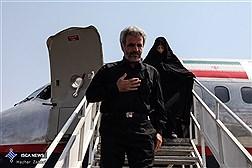 استقبال از خانواده شهید حججی در فرودگاه مهرآباد