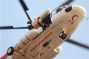 اعزام بالگرد از اهواز به مناطق سیلزده باغملک