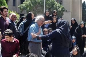 دیدار دانش آموزان المپیاد ادبیات با شفیعی کدکنی/عکس