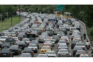 ترافیک سنگین در آزاد راه کرج -تهران