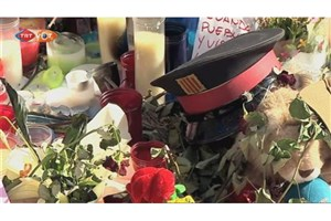 خیابان رامبلاس بارسلون مملو از گل های سرخ مردم شد