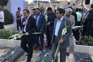 تجدید میثاق اعضای شورای اداری استان کرمان با شهدا