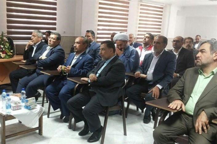 افتتاح ساختمان اداری جمعیت هلالاحمر سرخه با حضور وزیر دادگستری