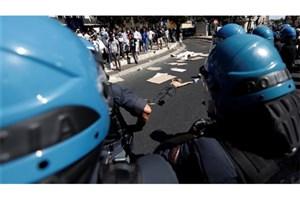 نیروهای امنیتی ایتالیا به مهاجران حمله کردند