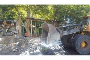 تخریب ساخت وساز غیرمجاز در جاده چالوس به دستور دادستان عمومی  استان البرز