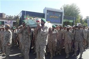 پیکر شهید گمنام در ستاد نیروی زمینی سپاه تشییع و تدفین شد